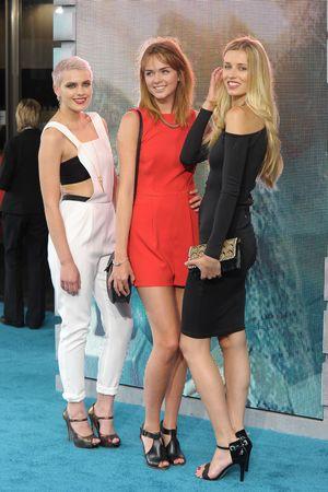 'Pacific Rim' film premiere at the BFI Imax, London, Britain - 04 Jul 2013 Emily Garner, Sophie Ellson and Naomi Pelkiewicz