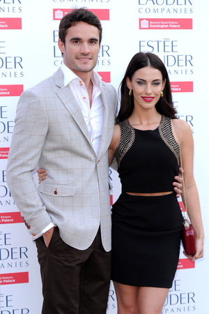 Jessica Lowndes and Thom Evans attend the Fashion Rules exhibition at Kensington Gardens - London 4 July 2013