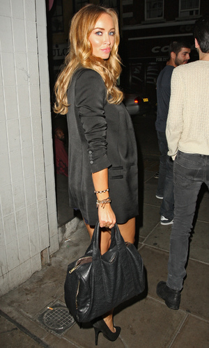 TOWIE's Lauren Pope out and about walking in Soho - 4 July 2013