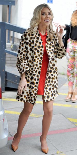 Mollie King outside ITV studios, London, Britain - 01 Jul 2013