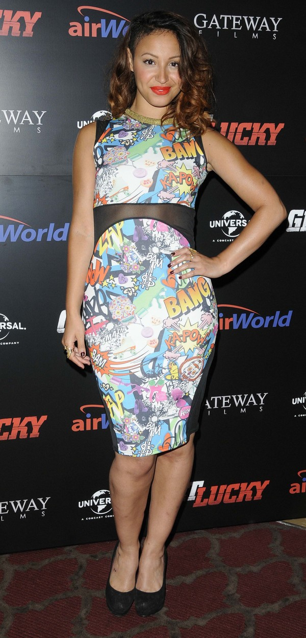 Sugababe Amelle Berrabah attends the 'Get Lucky' film premiere at the Mayfair Hotel - London 4 July 2013