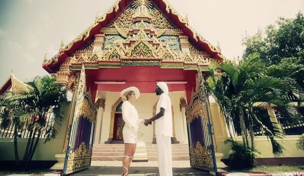 "Rita Ora and Snoop Lion in their video for ""Torn Apart"" - July 2013"