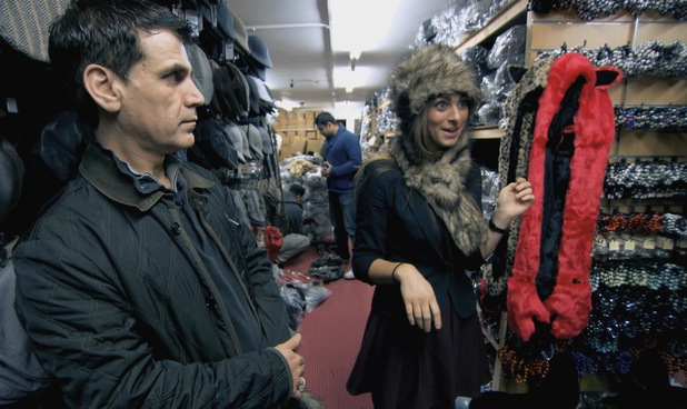 Luisa Zissman wears a fur hat in The Apprentice - 3 July 2013