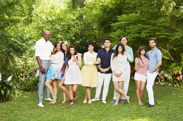 Keeping Up With The Kardashians, family group shot, Sun 7 Jul