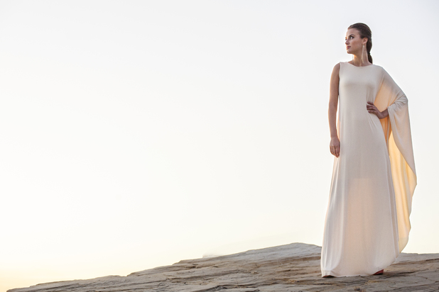 Lucy Watson models for Gorgeous Couture
