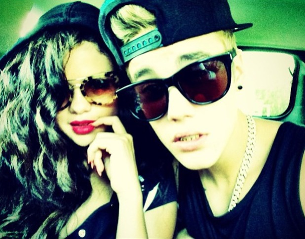 Selena Gomez poses with on/off boyfriend Justin Bieber in Instagram picture, July 5 2013