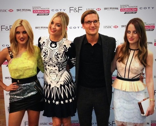 Rosie Fortescue, Oliver Proudlock, Ashley Roberts, Laura Whitmore attend Fashion Monitor Awards on 2 July 2013
