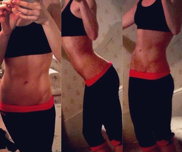 Chloe Madeley shares Twitter picture of her weight loss and fitness regime.