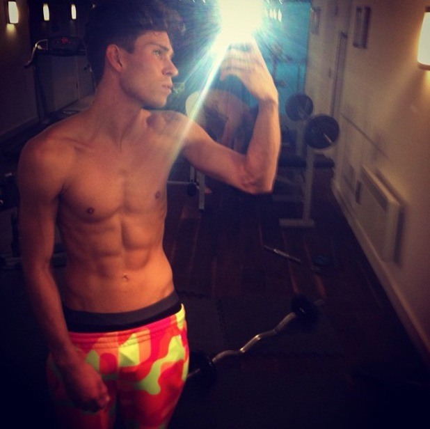 Joey Essex posts topless picture on Instagram - 4 July 2013
