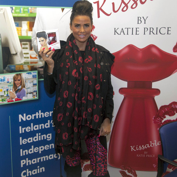 Katie Price launches her new fragrance 'Kissable' in Belfast - 5 July 2013