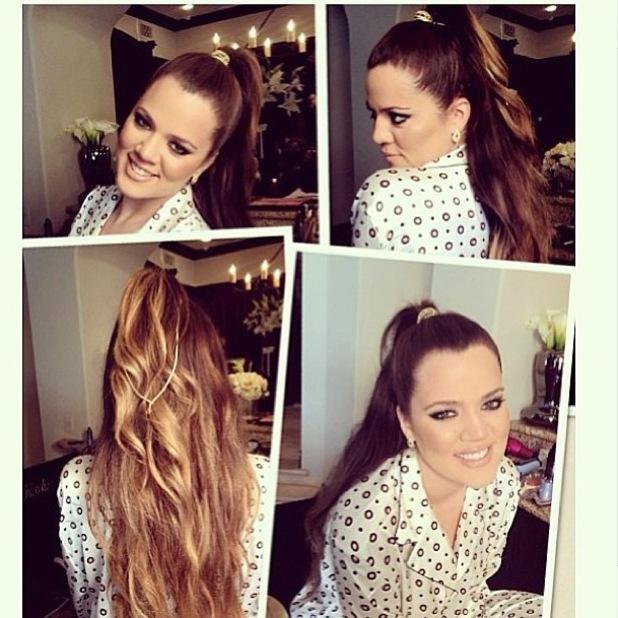 Khloe Kardashian Instagram high ponytail