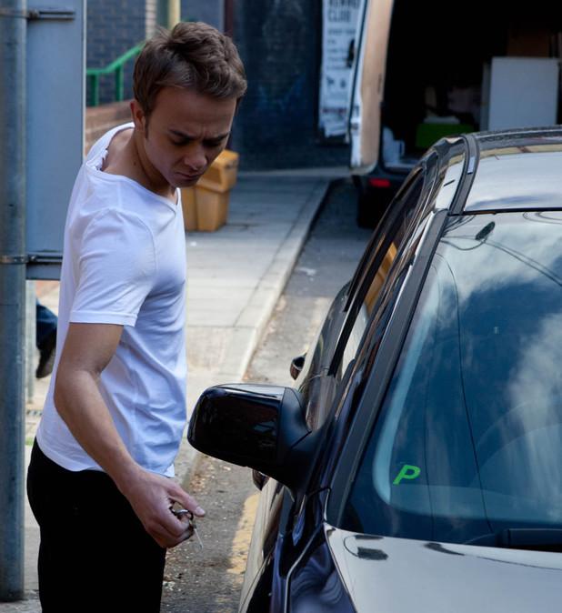 Corrie, David keys Peter's car, Wed 3 Jul