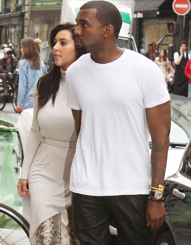 Kim Kardashian and Kanye West shop at Colette boutique, Paris, June 2012