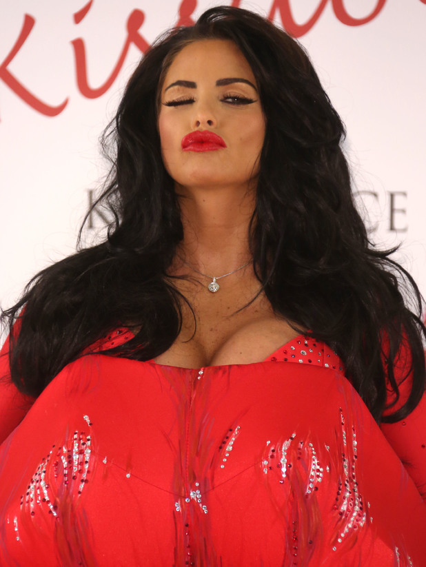 Katie Price launches her new fragrance 'Kissable' at The Worx Studio - Photocall - 4 July 2013