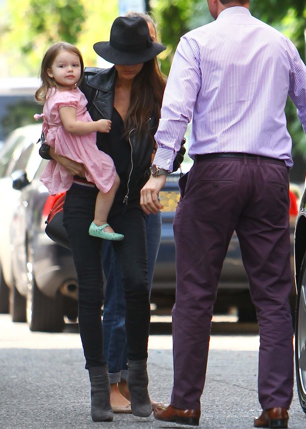 Victoria Beckham takes her daughter Harper to her youngest son Cruz's prize-giving event - 5 July 2013
