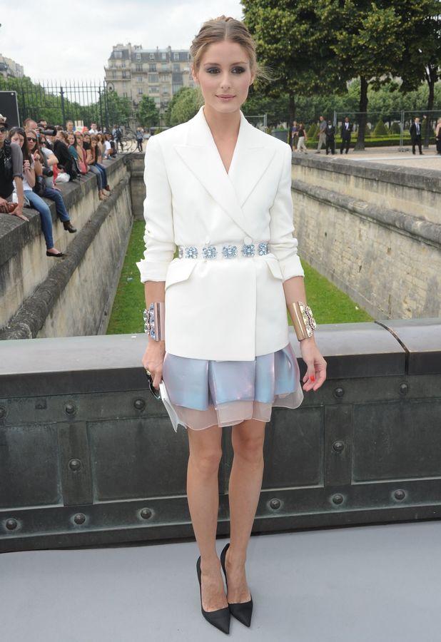 Olivia Palermo Dior show, Haute Couture Fall Winter 2013, Paris Fashion Week, France - 01 Jul 2013