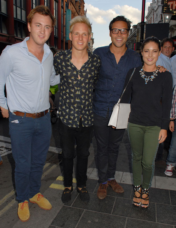 Jamie Laing, Louise Thompson, Andy Jordan and Francis Boulle at the Apollo Theatre, 1 July 2013