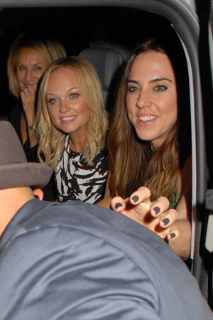Celebrities arrive for the final performance of 'Viva Forever!' at Piccadilly Theatre PersonInImage: Emma Bunton, Melanie Chisholm, Spice Girls Credit :	WENN.com