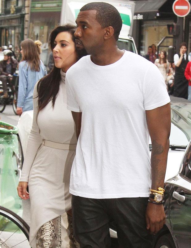 Kim Kardashian and Kanye West shop at Colette boutique, Paris, June 2012
