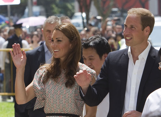 Prince William and Kate Middleton visit the Queenstown Community cultural in Singapore, September 2012