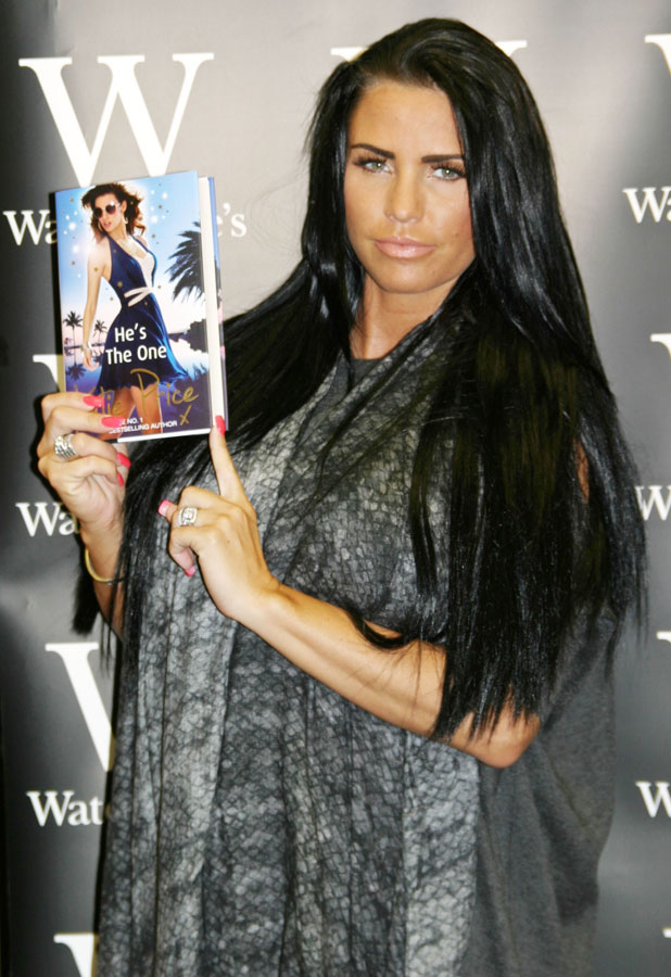 Katie Price signs copies of her new book 'He's the One' at Waterstones in Grimsby, 30 June 2013
