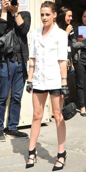 Kristen Stewart at the Chanel Paris Fashion Week show, 2 July 2013
