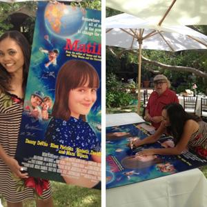 Matilda cast reunite to promote special Blu-Ray DVD version Kiami Davael, Danny DeVito
