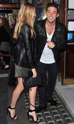 Spencer Matthews and Stephanie Pratt at the Apollo Theatre, 1 July 2013