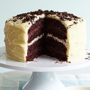 Inside shot of Low GI coconut chocolate layer cake lucy parissi