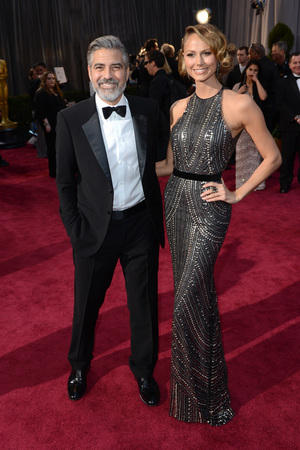 The 85th Annual Oscars -  George Clooney, Stacy Keibler - 02/24/2013