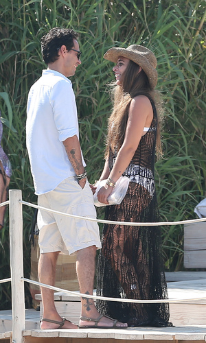 Chloe Green, her boyfriend Marc Anthony and her parents visit Club 55 - 6.7.2013