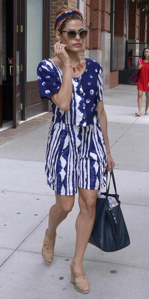 Eva Mendes seen leaving her hotel in Manhattan
