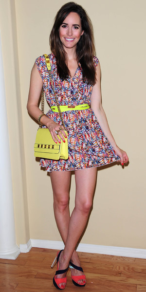 Louise Roe Los Angeles, America - 10 Jul 2013 wearing Kardashain Kollection dress