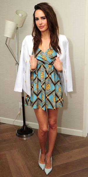 Louise Roe in New York, America - 14 Feb 2013, wearing Kardashian Kollection