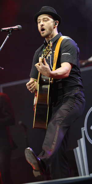 Justin Timberlake performs at Wireless Fesitval, London's Queen Elizabeth Olympic Park, July 12 2013