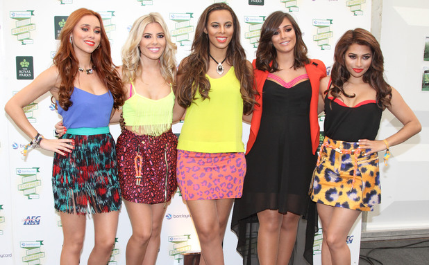 The Saturdays backstage at British Summer Time Hyde Park - 7 July 2013