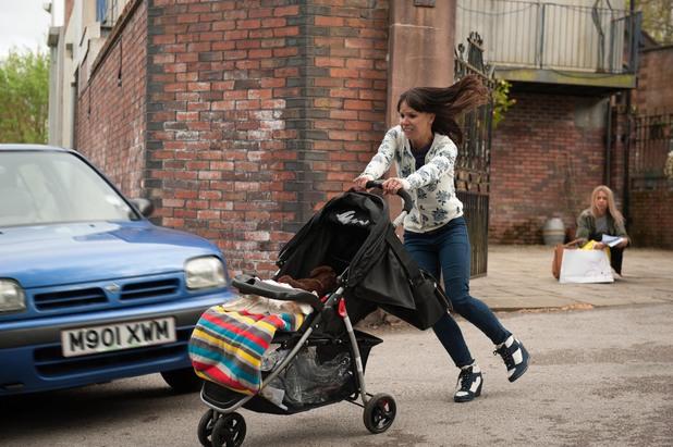 Hollyoaks, Nancy saves the runaway pram, Wed 10 Jul