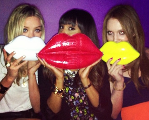 Laura Whitmore Instagram Lulu Guinness Paint Project Party at the Old Sorting Office