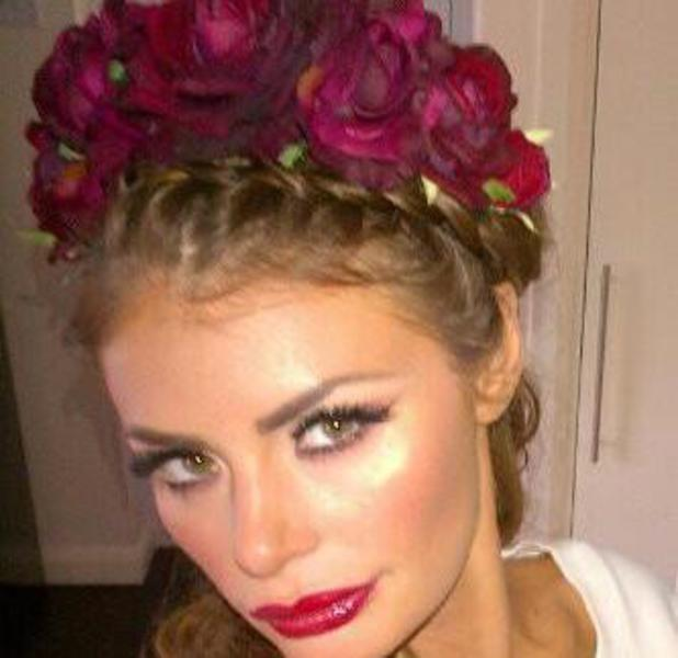 Chloe Sims tweets picture of herself wearing floral headband on 9 July 2013