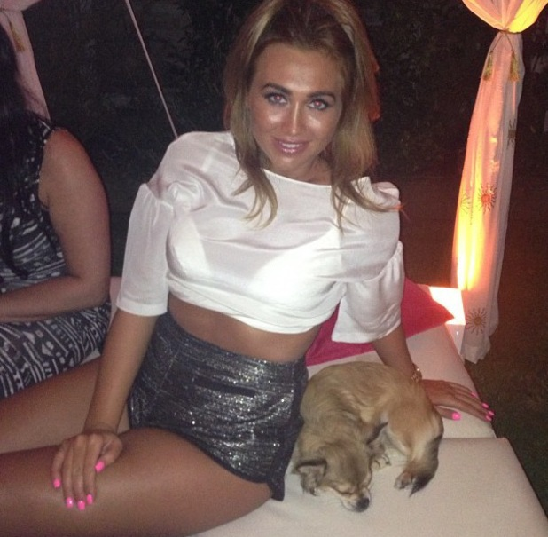 Lauren Goodger poses with her dog MiMi - July 2013