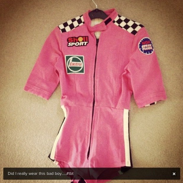 Kimberley Walsh shares picture of costume from Girls Aloud's Wake Me Up music video - 11 July 2013