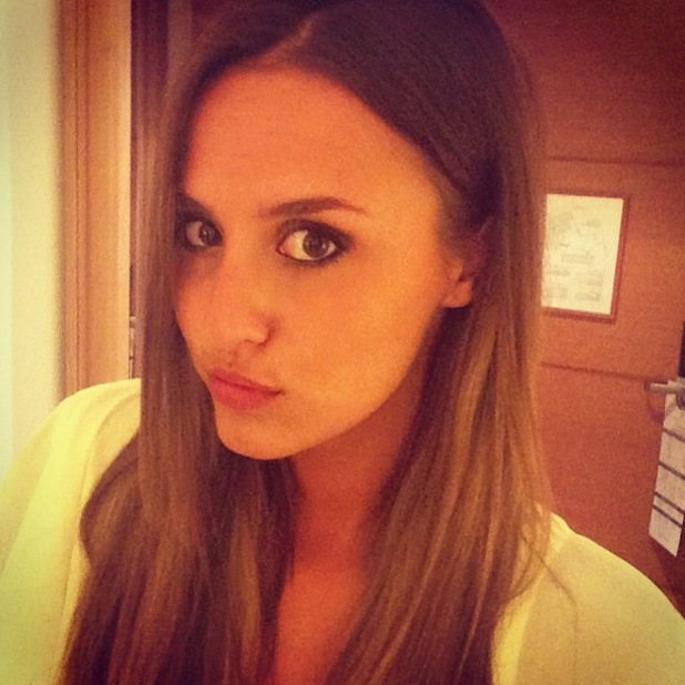Lucy Watson Instagram in Crete, smoky eye make-up