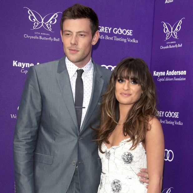 Cory Monteith and Lea Michele attend 19th Annual Screen Actors Guild (SAG) Awards held at the Shrine Auditorium