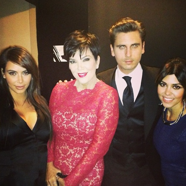 Kris Jenner with Kim, Kourtney Kardashian and Scott Disick in New York - 2013
