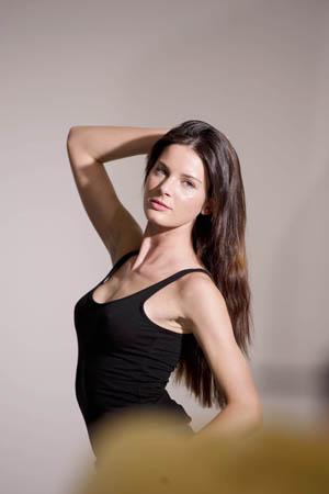 Abigail Johns Britain & Ireland's Next Top Model contestant on photo shoot - July 2013