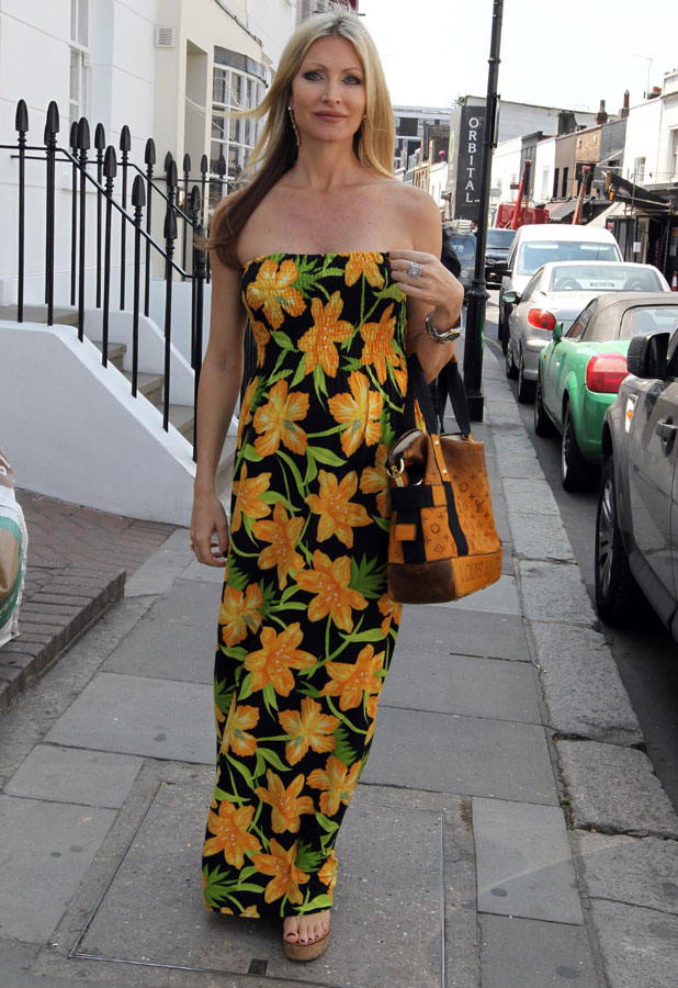 Caprice out and about in London, Britain - 11 Jul 2013