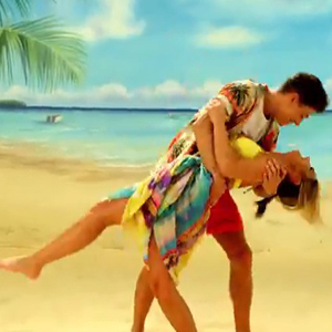 TOWIE's Joey Essex and Sam Faiers in Volvic advert