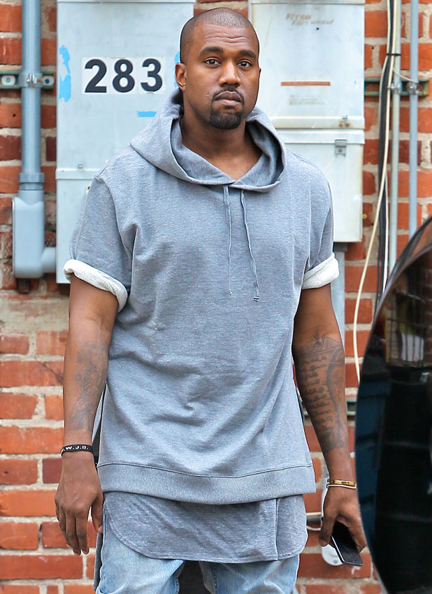 Kanye West seen shopping for furniture in Beverly Hills, 11 July 2013