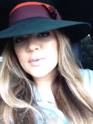 Khloe Kardashian pleads with Kim to come out of hiding in a Keek video, 12 July 2013
