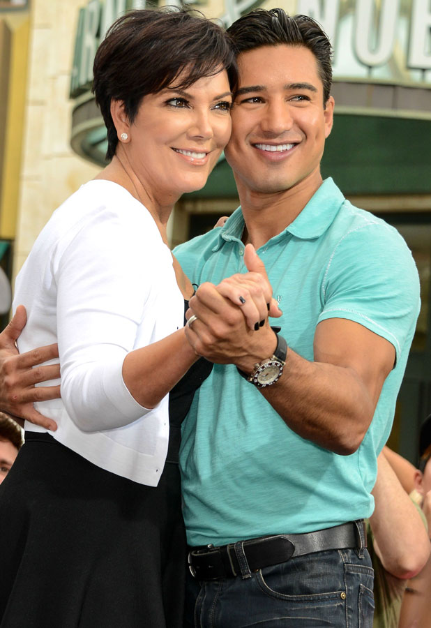 Kris Jenner seen at the Grove for an interview with Mario Lopez on Extra. - 10 July 2013